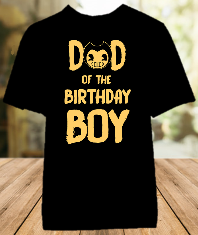 Bendy and The Ink Machine Birthday Party Parent Dad Daddy Father Color T Shirt - All Sizes Available