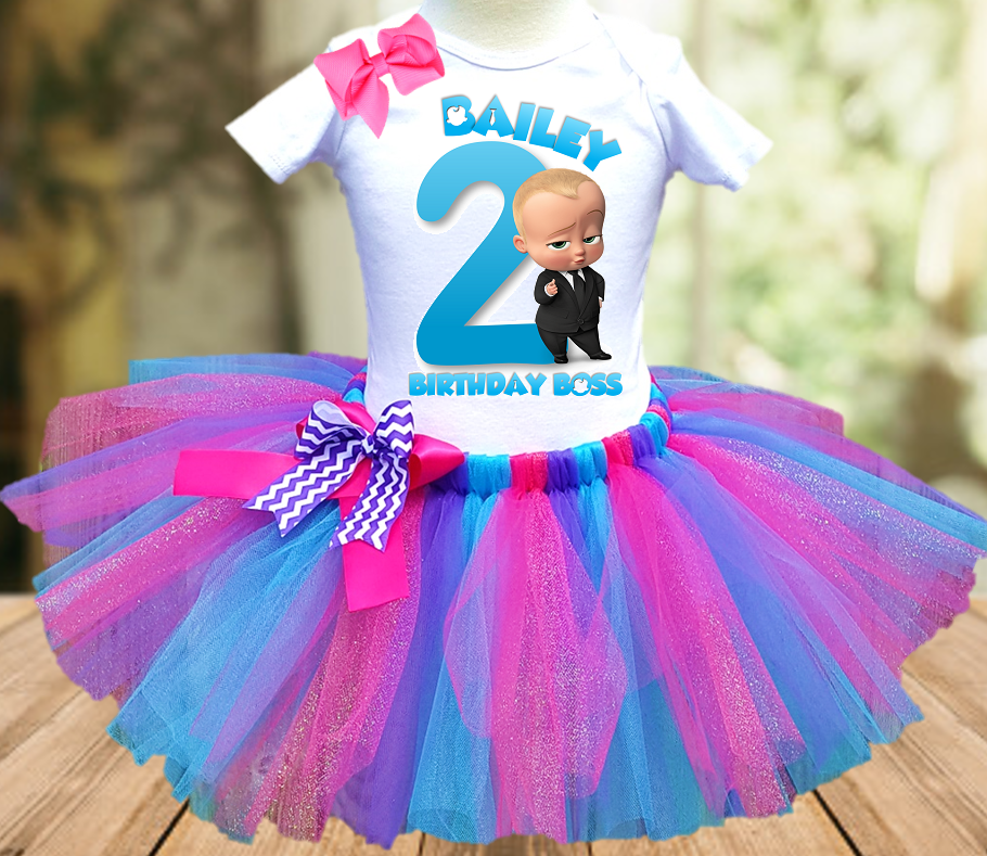 Boss Baby Birthday Party Personalized Tutu Outfit - All Sizes Available - BBFTO01