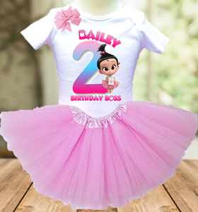 Boss Baby Staci Birthday Party Personalized Layer Tutu Outfit - All Sizes Available - BBTO03A