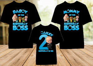 Boss Baby Birthday Party Personalized Color T Shirt - 3 Pack - BB3P01