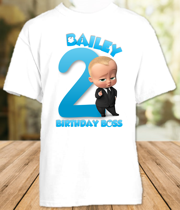 Boss Baby Birthday Party Personalized T Shirt or Onesie - All Sizes - BOSSS1