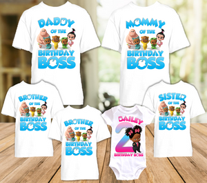 Boss Baby Black Girl Birthday Party Personalized T Shirt or Onesie - 7 Pack - BB7P3