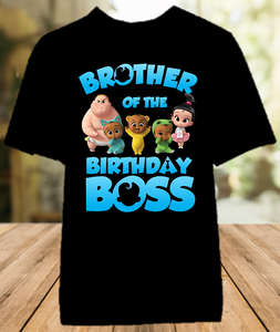 Boss Baby Birthday Party Personalized Sibling Brother Color T Shirt - All Sizes Available