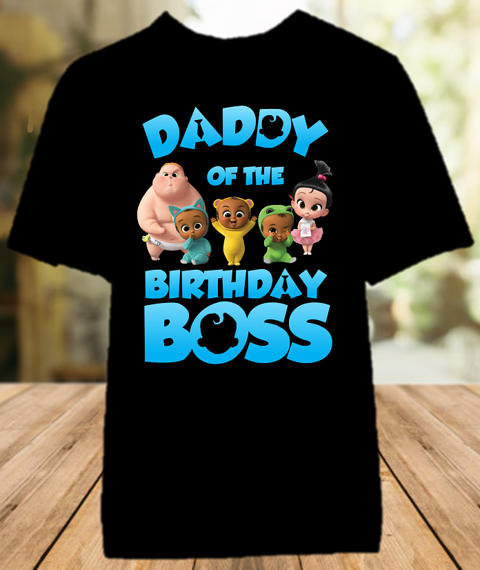 Boss Baby Birthday Party Personalized Parent Dad Daddy Father Color T Shirt - All Sizes - BBDS01