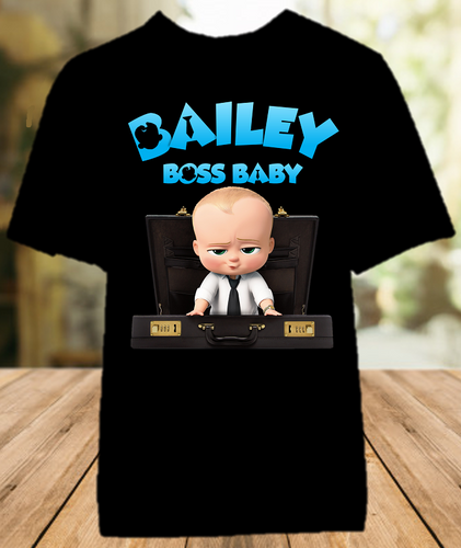 Boss Baby Party Personalized Color T Shirt - All Sizes Available - BB1010