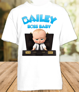 Boss Baby Party Personalized T Shirt or Onesie - All Sizes Available - BB0010