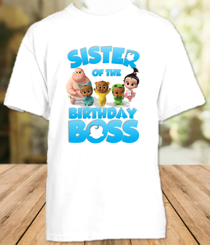 Boss Baby Birthday Party Personalized Sibling Sister T Shirt or Onesie - All Sizes Available