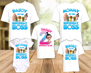 Boss Baby Staci Birthday Party Personalized T Shirt or Onesie - 5 Pack - BB5P4