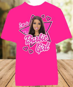 Barbie Black Im a Barbie Girl Color T Shirt - All Sizes Available