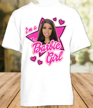 Load image into Gallery viewer, Barbie Black Im a Barbie Girl Color T Shirt - All Sizes Available