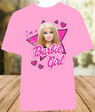 Load image into Gallery viewer, Barbie Blonde Im a Barbie Girl Color T Shirt - All Sizes Available