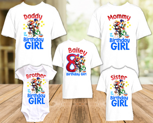 DC Super Hero Girls Birthday Party Personalized T Shirt or Onesie - 5 Pack - SH5P