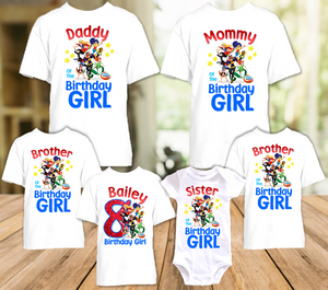 DC Super Hero Girls Birthday Party Personalized T Shirt or Onesie - 6 Pack - SH6P