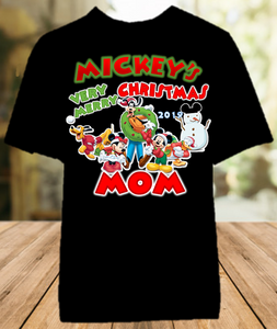 Mickey Mouse Merry Christmas Disney World Vacation Mom Mommy Mother Color Shirt - All Sizes - MMCMCS1