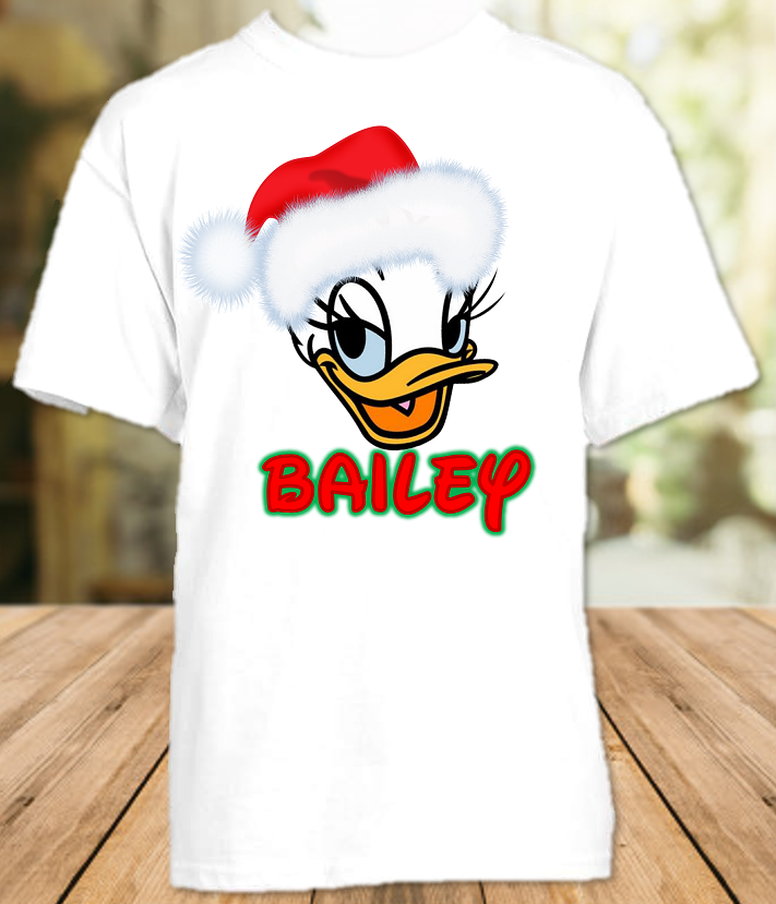 Daisy Duck Face Merry Christmas Disney World Vacation Shirt or Onesie - All Sizes - DDUFCS1