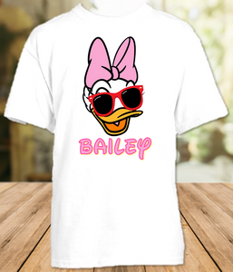 Daisy Duck Face Disney World Family Vacation T Shirt or Onesie - All Sizes - DFDS1