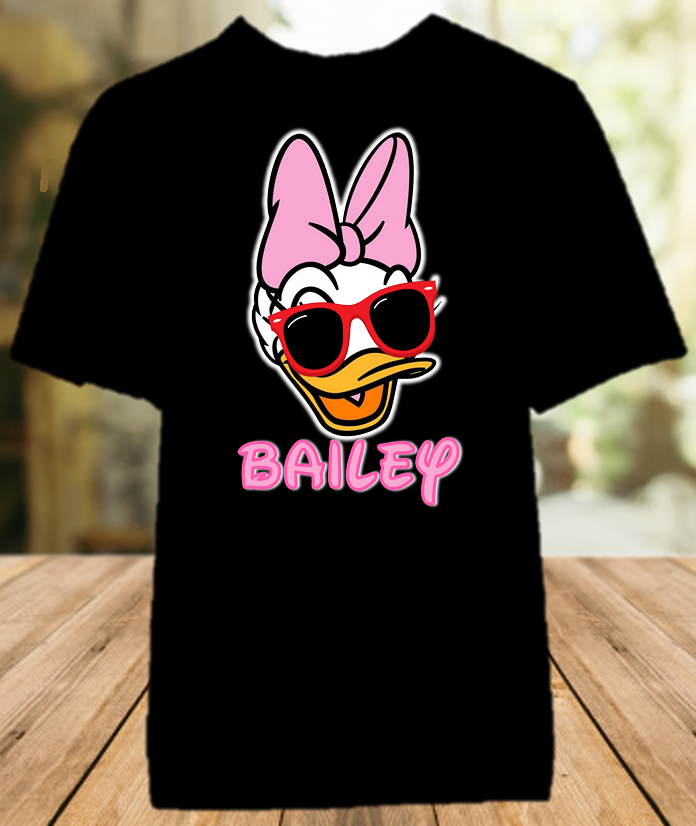 Daisy Duck Face Disney World Family Vacation Color T Shirt - All Sizes - DFDCS1