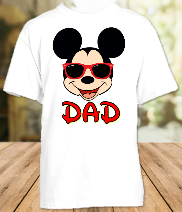 Mickey Mouse Face Disney World Family Vacation T Shirt or Onesie - All Sizes - MMFDS1