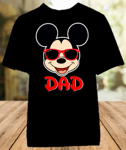 Mickey Mouse Face Disney World Family Vacation Color T Shirt - All Sizes - MMFDCS1
