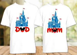 Disney World Family Vacation Mickey Castle Personalized T Shirt or Onesie - 2 Pack - DC2P