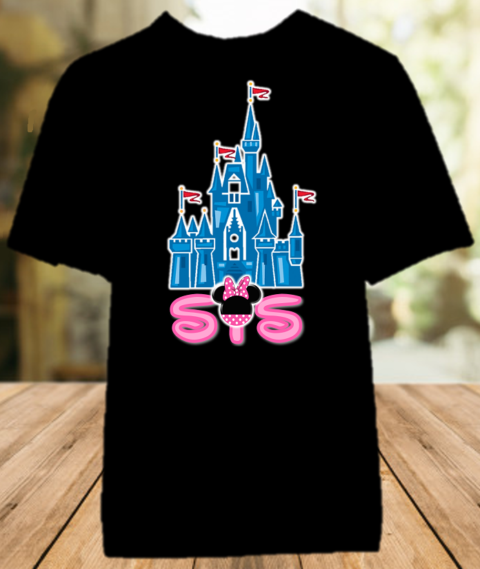 Disney World Family Vacation Mickey Castle Personalized Sister Color Shirt - All Sizes - DCSCS1