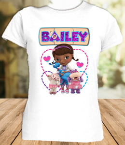 Doc Mcstuffins Party Personalized T Shirt or Onesie - All Sizes - DMPS1