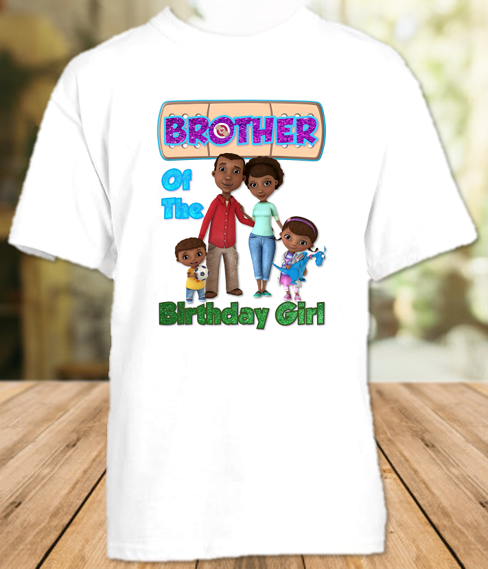 Doc Mcstuffins Birthday Party Personalized Sibling Brother T Shirt or Onesie - All Sizes - DMBS1