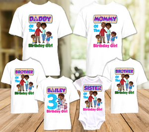 Doc Mcstuffins Birthday Party Personalized T Shirt or Onesie - 6 Pack - DM6P