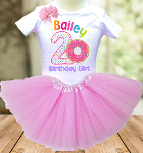 Donut Birthday Party Personalized Layer Tutu Outfit - All Sizes Available - DTO01A