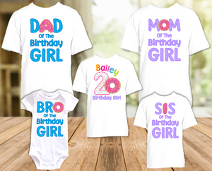 Donut Grow Up Birthday Party Personalized T Shirt or Onesie - 5 Pack - DO5P