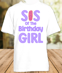 Donut Grow Up Birthday Party Personalized Sibling Sister T Shirt or Onesie - All Sizes - DOSS1