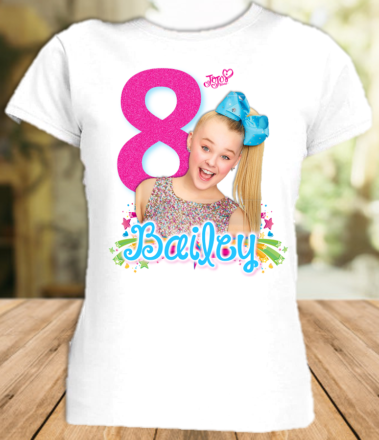 Jojo Siwa Birthday Party Personalized T Shirt or Onesie - All Sizes Available - JSS1