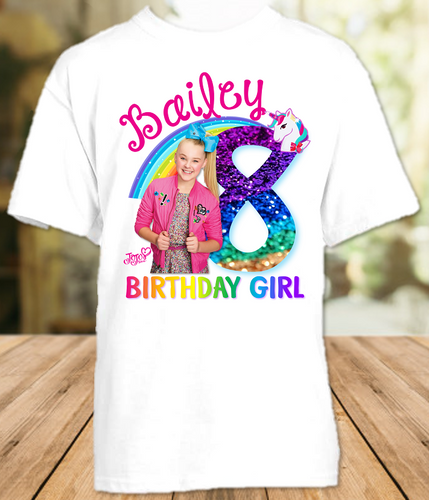 Jojo Siwa Blue Bow Birthday Party Personalized T Shirt or Onesie - All Sizes Available - JSS2