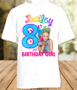 Jojo Siwa Green Bow Birthday Party Personalized T Shirt or Onesie - All Sizes Available - JSS3