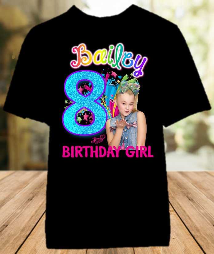 Jojo Siwa Green Bow Birthday Party Personalized Color T Shirt - All Sizes Available - JSCS3