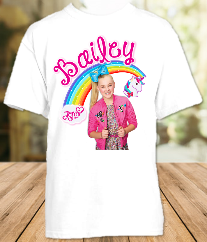 Jojo Siwa Blue Bow Party Personalized T Shirt or Onesie - All Sizes Available - JSPS2