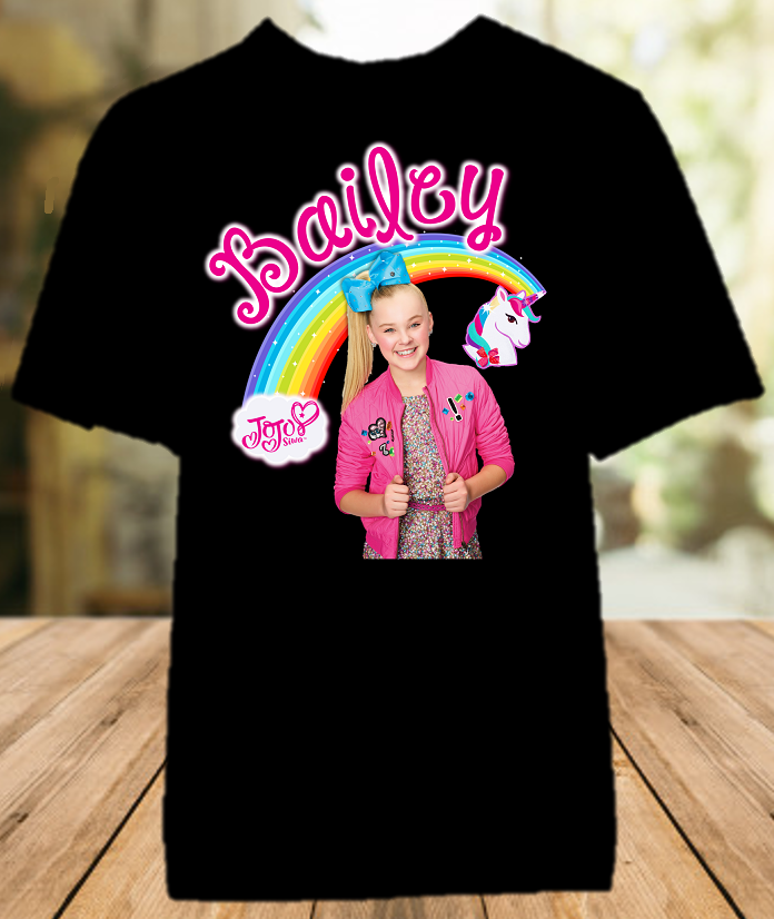 Jojo Siwa Blue Bow Party Personalized Color T Shirt - All Sizes Available - JSPCS2
