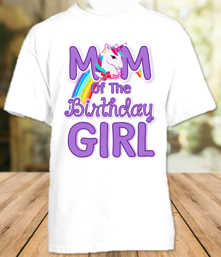Jojo Siwa Birthday Party Personalized Parent Mom Mommy Mother T Shirt - All Sizes Available - JSMS1