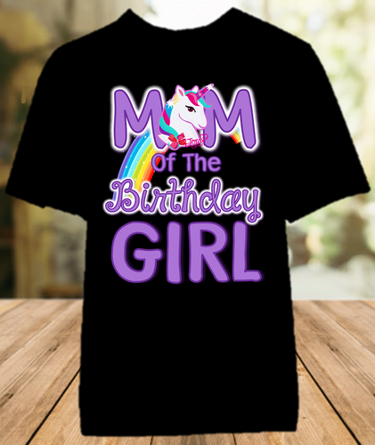 Jojo Siwa Birthday Party Personalized Parent Mom Mommy Mother Color T Shirt - All Sizes - JSMCS1