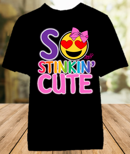 Jojo Siwa Emoji Smiley Face Stinkin Cute Color T Shirt - All Sizes Available - JSSCCS1