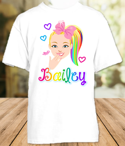 Jojo Siwa Face Party Personalized T Shirt or Onesie - All Sizes - JSFPS1