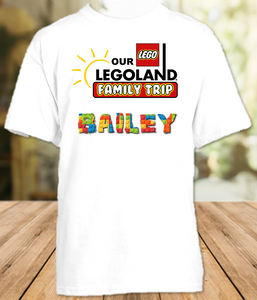 Legoland Logo Lego Family Vacation Trip Personalized T Shirt or Onesie - All Sizes - LLVS1