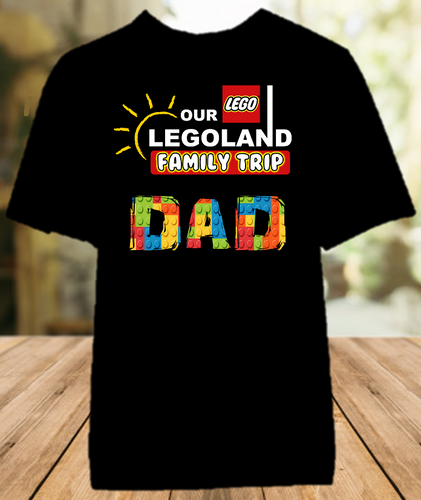 Legoland Logo Lego Family Vacation Trip Personalized Color T Shirt - All Sizes - LLVDCS1