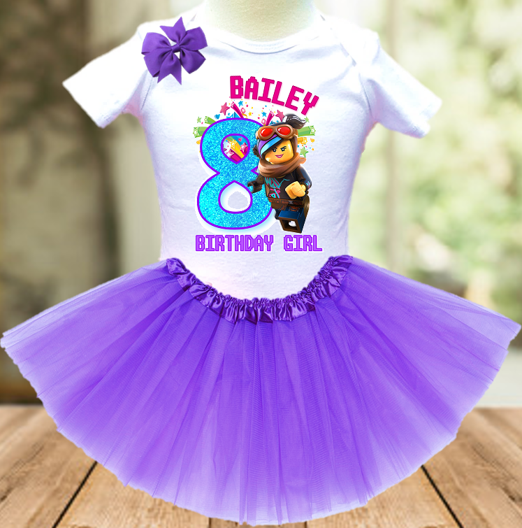 Legoland Lego Lucy Wyldstyle Birthday Party Personalized Layer Tutu Outfit - All Sizes - LWTO01A