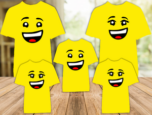 Legoland Lego Minifigure Boy Girl Man Woman Face Color T Shirt - 5 Pack - LMFC5P
