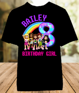 Legoland Lego Friends Birthday Party Personalized Color T Shirt - All Sizes - LFCS1