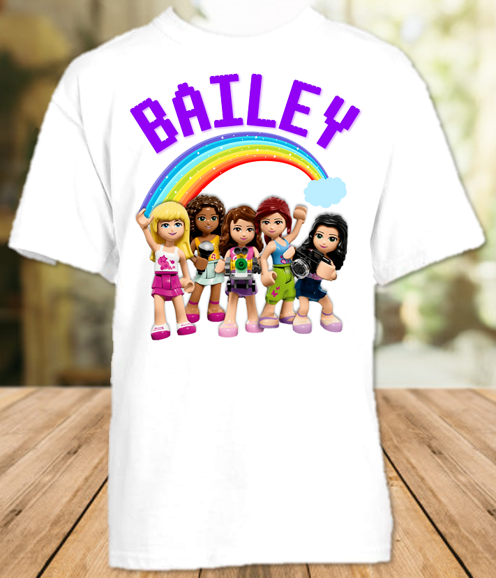 Legoland Lego Friends Party Personalized T Shirt or Onesie - All Sizes - LFPS1