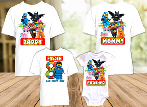 Legoland Lego Movie Benny Birthday Party Personalized T Shirt or Onesie - 4 Pack - LMBE4P