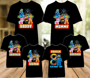Legoland Lego Movie Benny Birthday Party Personalized Color T Shirt - 6 Pack - LMBEC6P