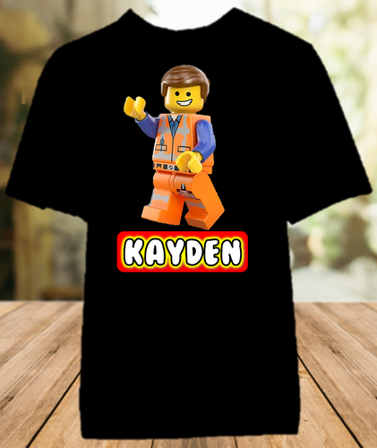 Legoland Lego Movie Emmet Party Personalized Color T Shirt - All Sizes - LMEPCS1